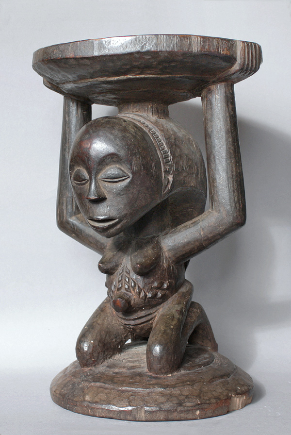 Kipona Stool Luba Peoples Congo A