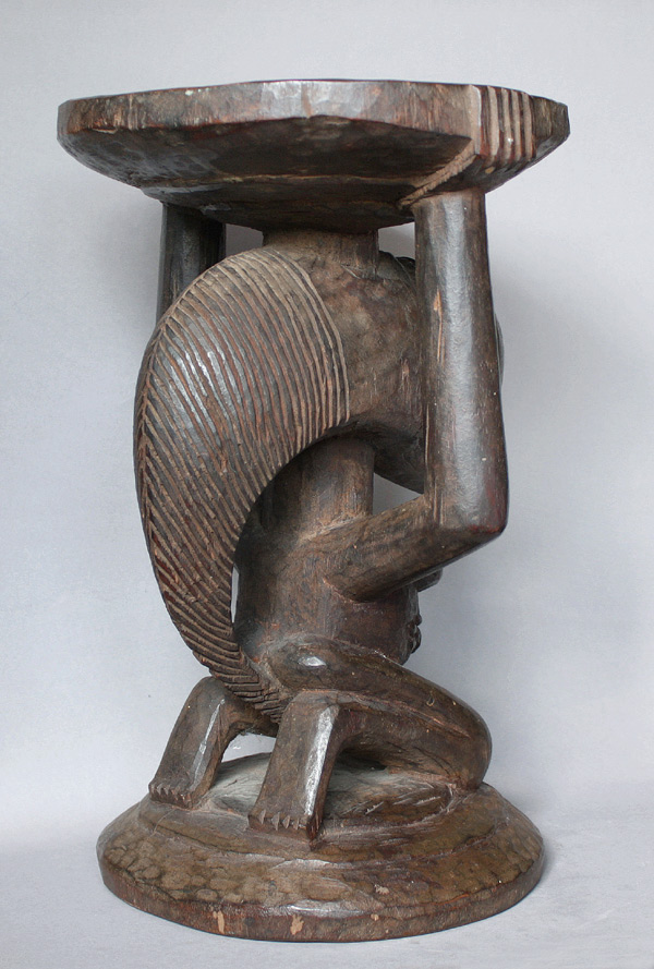 Kipona Stool Luba Peoples Congo R